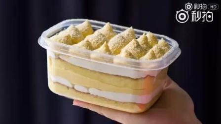 火爆网络的豆乳盒子蛋糕, 超详细做法