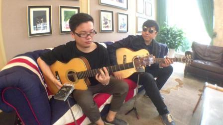 双吉他指弹版 那英《默》(搭档: 叶知)