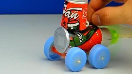 手工小制作, 水瓶盖四轮小汽车