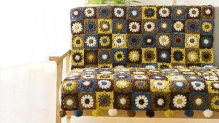 【金贝贝手工坊138辑】M91日系风格拼花毯子毛线钩针编织儿童毯空调毯宝宝盖毯新款花样