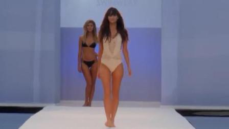 米兰时装周新款内衣泳装发布, 连体纯色比基尼上身效果好!