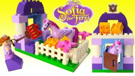 爸爸是孩子最好的玩具, 和宝宝一起DIY迪士尼索非亚第一皇家马厩
