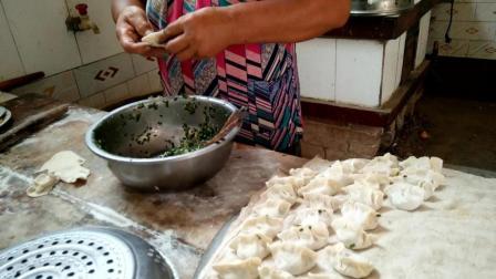 妈妈亲授包饺子手法 怎么包的好看又好吃 西北韭菜大肉馅饺子做法视频