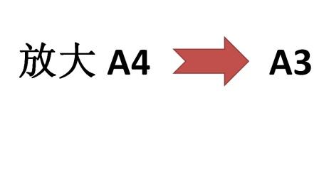 放大复印 A4-A3