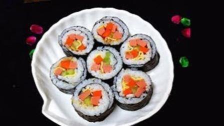 """""""什锦火腿寿司""""的家常做法, 非常好吃, 做法很简单!"""