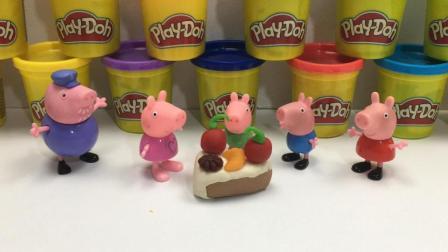 哆啦盒子玩具时间 2017 猪爷爷 小猪佩奇 乔治做美味彩泥蛋糕 252 佩奇与乔治做彩泥蛋糕