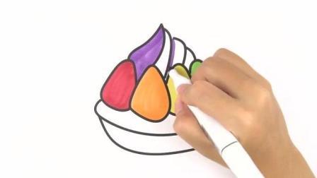 宝妈必学简笔画, 教宝宝画一个寿桃