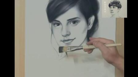 3分钟教你画美女头像超简单素描画法素描基础入门教程57简单素描