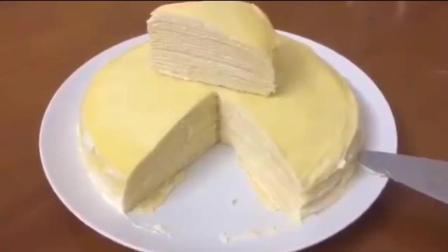 【榴莲千层蛋糕的做法】榴莲控们看过来, 让你们狂流口水的美食出现啦? !