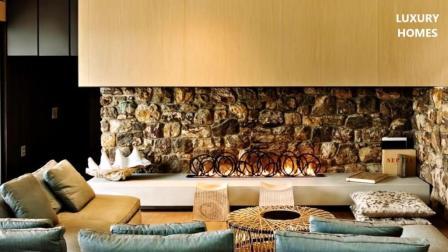 大胆, 但亲密的现代现代豪华海景房, 坐落在新西兰的豪宅
