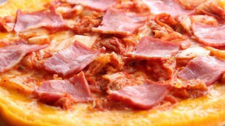 五花肉泡菜玉米披萨, 蜂蜜泡菜奶香四溢, 健身减脂餐!