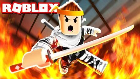 「Roblox忍者大战模拟器」无敌剑术砍翻全场! 乐高忍者村爆笑大混战! 小格解说