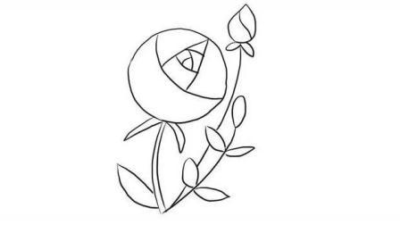 三分钟学会画一朵漂亮的月季花幼儿亲子简笔画