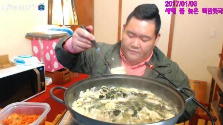 ★韩国吃播★【维尼哥】米片饺子汤