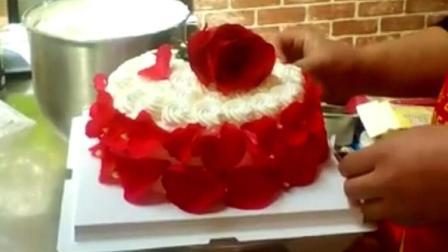 玫瑰鲜花蛋糕制作, 喜欢的进进来