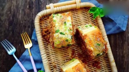 【香葱肉松面包卷】香甜的蛋黄酱, 捏上去软软的, 咬一口太满足了!