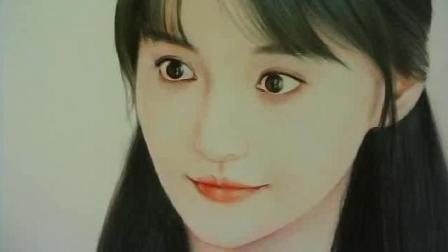 学画画 彩铅画 人物 郑爽 慢视频