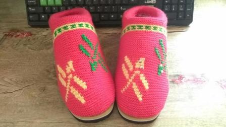 【手工织品】蜻蜓 第一段 毛线鞋毛线棉鞋毛线拖鞋海绵鞋编织视频教程零基础