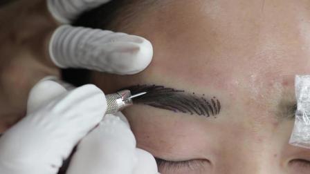 韩式半永久水洗线条眉真人实操视频教程-本色纹绣