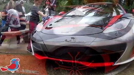 运动限量版迈凯伦汽车试驾视频! 性能很好! 引来无数围观者