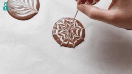 奥利奥饼干与拿铁拉花艺术的结合