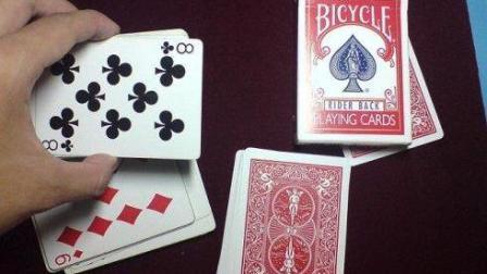 教你一个简单粗暴的纸牌魔术手法, 看100遍也看不出破绽