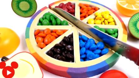 水果蔬菜切切看 过家家学做彩虹蛋糕