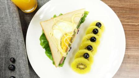 火腿三明治的制作方法, 好看又好吃, 大人小孩都喜欢!