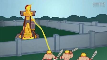 部落冲突动画: 逗逼蛮王和傻逼石头人, 这两人会撞出什么样的火花?