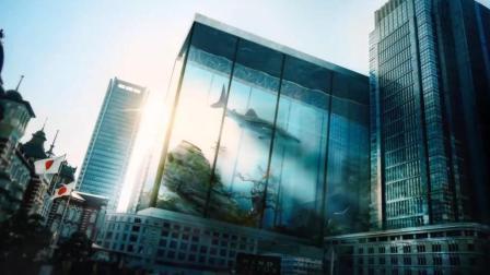 把大厦变大海, 这种创意还是第一次见, 创意非凡
