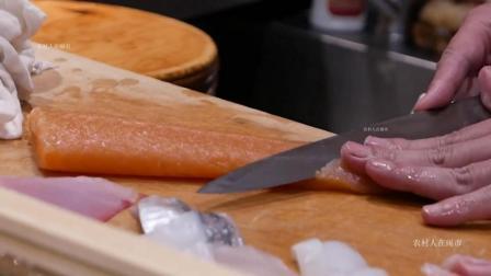 带你品尝一下日本顶级刺身寿司, 看看师傅如何现场制作