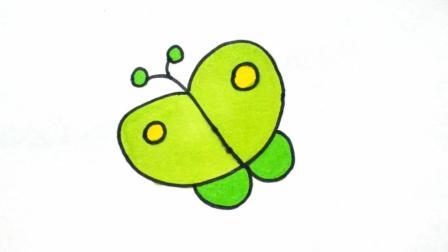 宝宝爱画画第二十五课 卡通简笔画图片蝴蝶视频教程