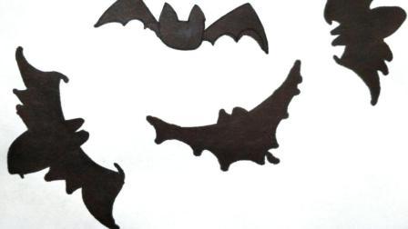 宝宝爱画画第二十二课 简笔画蝙蝠视频教程, 如何画卡通蝙蝠,万圣节简笔画图片大全