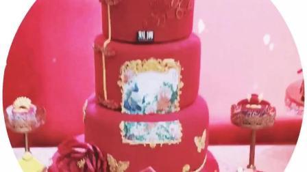 看看这个蛋糕烘焙培训学校的婚礼蛋糕甜品台作品, 必须点赞!