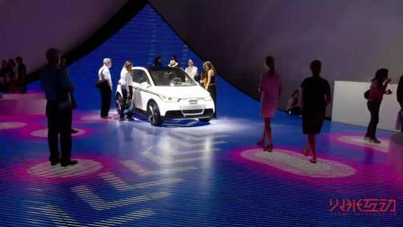 LED地板在车展上的互动应用-火米互动