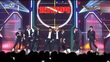 EXO《Power》回归舞台现场消音, 实力天团