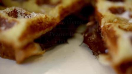 甜点制作——花生巧克力法国松饼——吐司变松饼