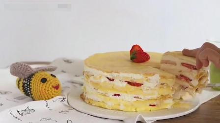 超简单的千层蛋糕做法, 赶紧学起来!