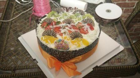巧克力水果蛋糕制作