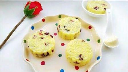 超好吃的蔓越莓土豆月饼, 土豆换种吃法造型, 有想吃的冲动!