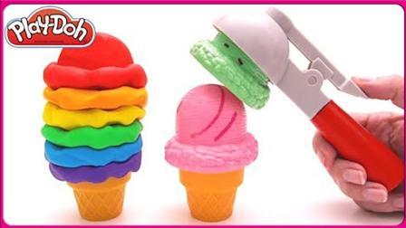 培乐多彩泥魔法DIY冰淇淋美食 亲子互动橡皮泥玩具试玩扮家家 小猪佩奇 汪汪队立大功