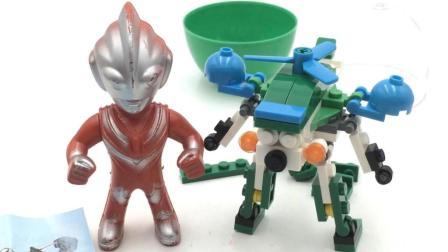 奥特曼拼装变形警车珀利积木玩具 11