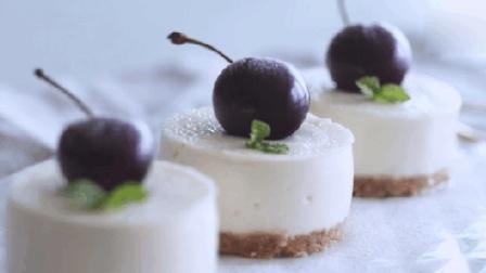 不用烤箱就可以做的【酸奶慕斯蛋糕】, 颜值高, 零失败。光是看着就有好心情呀!