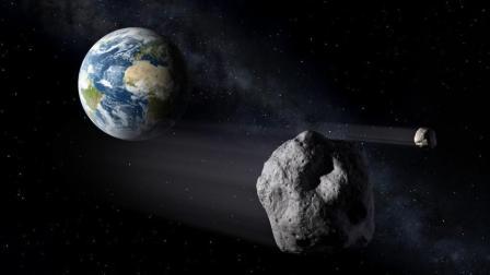 最大小行星擦过地球的一瞬间 整个视频现实还原