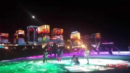 火米互动600平方LED广场地砖屏幕
