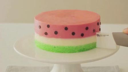 烘焙教学: 好Q萌的西瓜慕斯蛋糕