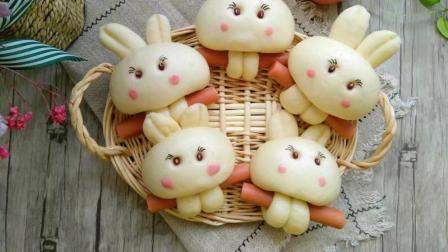 兔子爱香肠花样馒头, 只要行动多一点, 馒头就能靓你眼!