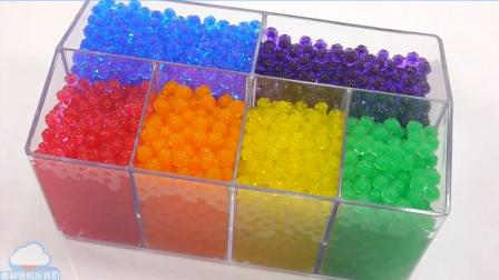 Orbeez案例顏色水球玩具手工DIY顏色泥灰軟果凍布丁自制食玩【俊和他的玩具們
