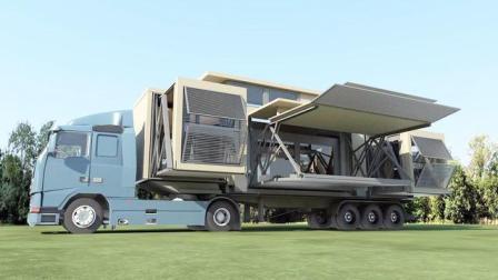 这个神奇集装箱, 10分钟变身三层别墅, 去哪都能住大房子