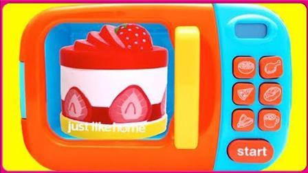 七彩水果榨汁机卡通玩具扮家家 亲子互动神奇烤箱变魔术玩具试玩 小猪佩奇 火影忍者